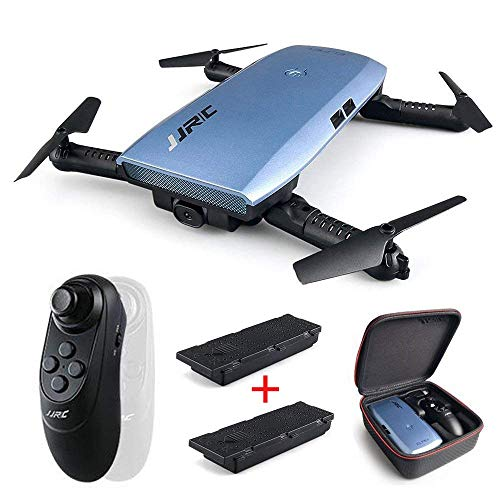REDPAWZ H47 Elfie Plus Drone with 720P HD Camera WiFi FPV Foldable Selfie Drone with Gravity Sensor Mini Drone Altitude Mode - Blue 2 Battery (H47 PLUS)