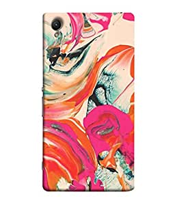 PrintVisa Designer Back Case Cover for Sony Xperia M4 Aqua :: Sony Xperia M4 Aqua Dual (Watercolor Backdrop Marbling Pattern Acrylic Dynamic Beautiful Fantasy)