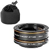 Neewer-2nd generación de plástico automático AF Auto-Focus tubo de extensión Macro 10 millimeter y 16mm para Sony NEX E-Mount cámara NEX 3/3N/5/5N/5R;Sony Marco de cámara Full A7/A7r/A7s/A7SII A7R/A7RII