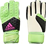 adidas Herren Torwarthandschuhe Ace Zones Fingertip Fußball, Grün/Schwarz/Pink, 7.5, AH7806
