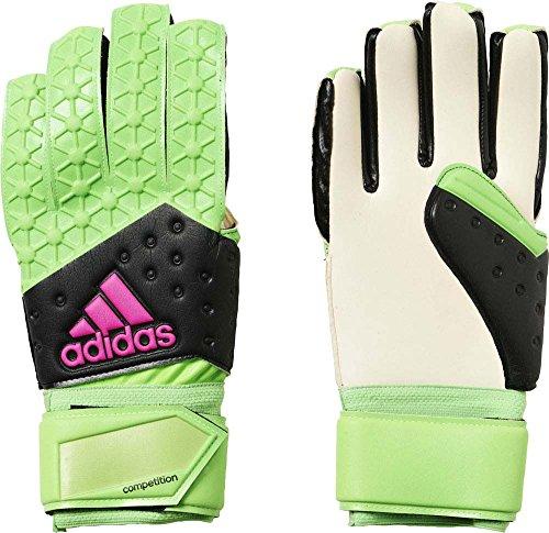 adidas Herren Torwarthandschuhe Ace Zones Fingertip, Solar Green/Core Black/Shock Pink S16/White, 10.5