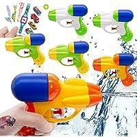 AYUQI Pistola de Agua 6 Piezas para Pistola de Agua para niños y niñas Fiesta de Verano al Aire Libre Playa de Piscina Recuerdos de Fiesta, Pegatinas para Tatuajes (Color 1)