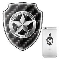 crownstarqi Cell Phone Radiation Shield,EMF Stickers Blocker,EMR Neutralizer Patch For Smartphones ipad (sliver 1pc)