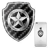 Téléphone portable rayonnement Shield, EMF la technologie de protection, EMR Soin neutralisant Patch pour tous les téléphones mobiles, iPad ordinateurs pour ordinateur portable tablette, Shield Sliver