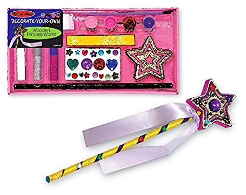Melissa & Doug Decorate-Your-Own Wooden Princess Wand W/ 2 Extra