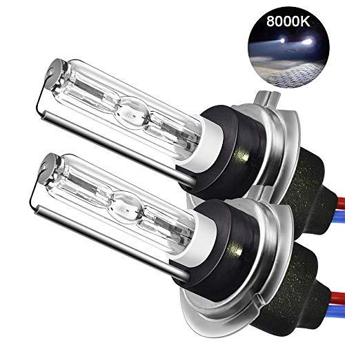 Preisvergleich Produktbild Womdee H7 Xenon HID Kit,  H7 Scheinwerfer Lampe 6000K,  55W,  H7 Auto Xenon Weiß,  Super Bright Car Motorcycle Lamps,  2 Pack,  Ballast