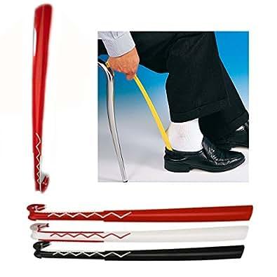 chausse pied 60 cm long blanc bordure rouge long manche chaussures et sacs. Black Bedroom Furniture Sets. Home Design Ideas