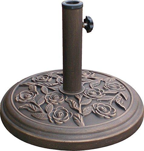 9kg-45cm-cast-iron-effect-parasol-base-with-rose-design