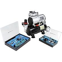Timbertech - ABPST06 - Kit de aerógrafos y compresor de émbolo