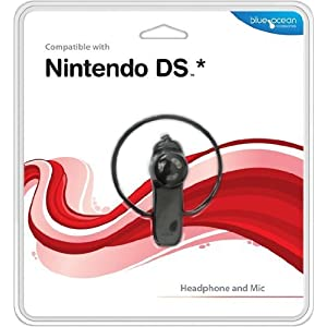 Nintendo DS – Headphone and Mic, schwarz [UK Import]