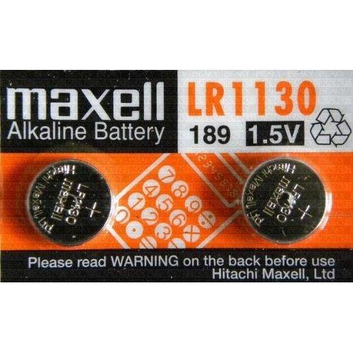 Maxell - Pilas de botón alcalinas LR1130 1,5 V / 2 unidades