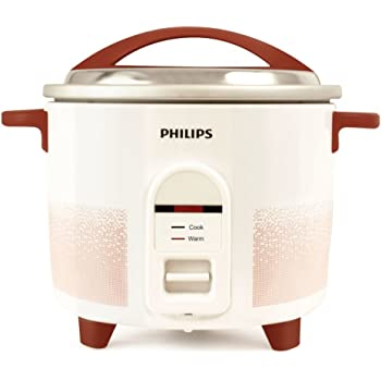 Philips HL1666/00 2.2-Litre Electric Rice Cooker (White/Red)