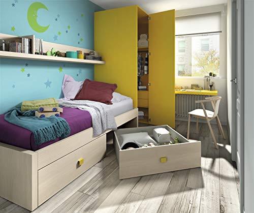 ambiato Kinderzimmer Vita 28 Eckkleiderschrank Kleiderschrank mit viel Platz, Bett mit viel Stauraum, Schreibtisch, freie Planung möglich