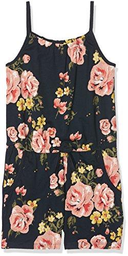 NAME IT Mädchen Overall Nkfvigga Strap Suit K, Mehrfarbig (Dark Sapphire Aop: Flower), 128 cm