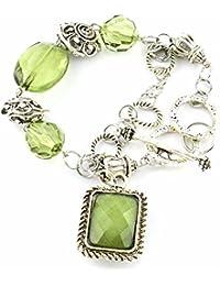 Pulsera charms eslabone Joya barata moda bohemio Mujer Verde Carmen-Vert