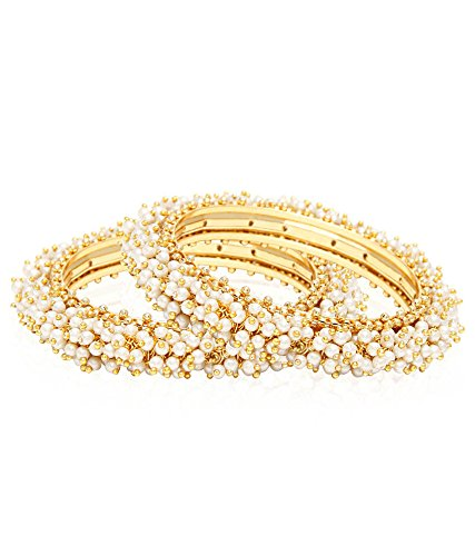 Jewels Galaxy Traditional Pearl Bangles for Women