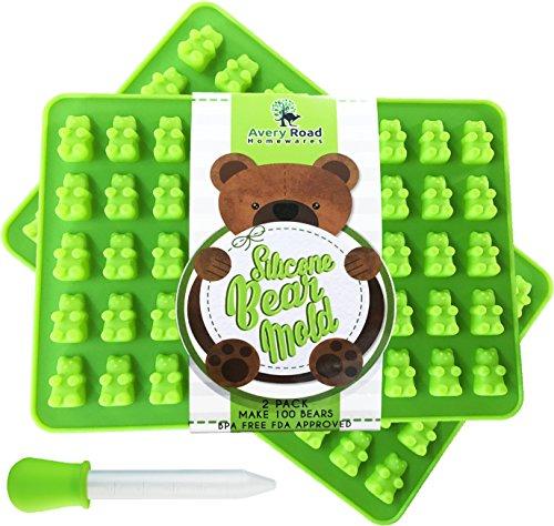 Grün Silikon Gummibär Formen, Silikon, GUMMY GREEN, Standard (Gummy Bear Mold Tray)