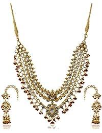 Padam Shree Gold Plated Multi-Strand Necklace Set For Women (Padam Shree_ 186)