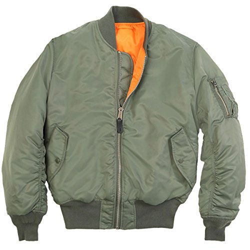 Men's Classic MA-1 Brass Zip Reversible Orange Flight for sale  Delivered anywhere in UK