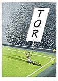 Postkarte A6 +++ CARTOON von modern times +++ FUSSBALL TOR +++ KÖPENICKER CG GROLIK, Markus