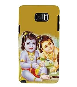 PrintVisa Designer Back Case Cover for Samsung Galaxy S6 Edge+ :: Samsung Galaxy S6 Edge Plus :: Samsung Galaxy S6 Edge+ G928G :: Samsung Galaxy S6 Edge+ G928F G928T G928A G928I (Lord Krishna And Sudama Kids Pic)