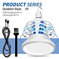 HITSAN INCORPORATION Grow LED Mosquito Killer Bulb E27 220V Insect Killer Pest Trap Control USB 5V Fly Zapper Anti Mosquito Lamp LED Grow Light 110V Color Outdoor 5V Emitting Color 2 Years Warranty