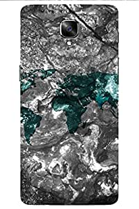 SRS World Map 3D Back Cover for OnePlus 3