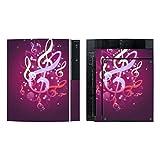 Disagu SF-sdi-3372_914 Design Folie für Sony PS3 stehend und Controller Motiv Leuchtende Notenschlüssel_2