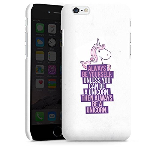 Apple iPhone X Silikon Hülle Case Schutzhülle Einhorn Unicorn Sprüche Premium Case matt