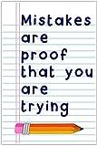 Letitia48Maud Mistakes es Prueba de Que estás probando la Escuela de Aula educación 30,48 cm x 45,72 cm Placa de Madera