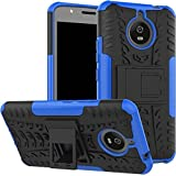 Bracevor Shockproof Motorola Moto E4 Plus [5.5 inch] Hybrid Kickstand Back Case Defender Cover - Blue