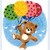 DIY Latch Hook Kit Rug Making Crafts for Kids/Adults 21 inch X 18 inch Bear566