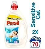 Persil Sensitiv Gel, Flüssigwaschmittel mit Tiefenrein-Technologie, 2er Pack (2 x 70 Waschladungen)