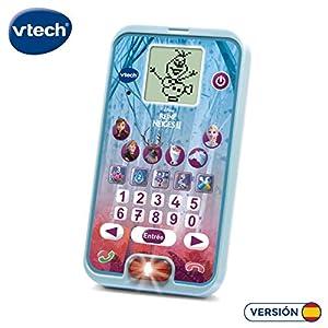VTech Elsa y Ana Frozen II Teléfono Interactivo con Voz, Actividades y Juegos. (3480-526122)