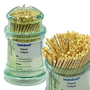 Healthbuddy natural toothpick-5 packs of 150 pcs each