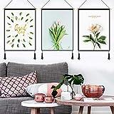 mmzki Pastorale dekorative Tapisserie Wohnzimmer Sofa Wandbehang Malerei Restaurant hängen Tuch Büro Wandbehang S 45x60cm