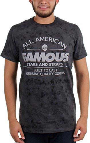 Le lien américain de la renommée des hommes de Famous Stars And Straps meurent T shirt graphique Gray