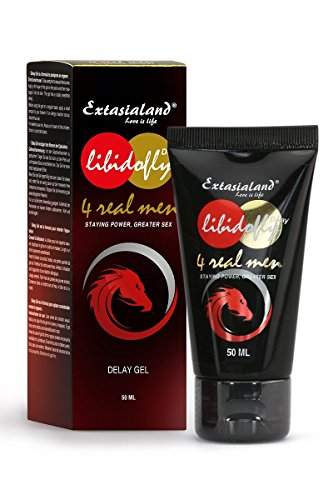 Libidofly Delay Gel 50 ml Potenzmittel zur Verzögerung des Orgasmus - für eine lange und harte Erektion für länger Sex - von Extasialand