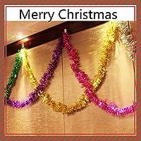 YINGGG 6 Piezas,2m metálico Guirnalda de espumillón de Navidad árbol decoración Metallic Foil Garland