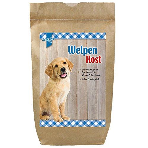 Schecko fit Welpenfutter Trockenfutter für Welpen speziell für Welpen & Junghunde hoher Proteingehalt Klein im Preis aber groß in der Leistung