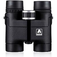 BNISE 8x32 HD Binocolo Professionale Binoculars - Asika Telescopio Militare per la Caccia e di Viaggio - Pieghevole Compatto Formato Tascabile - Alta Clear Vision - Nero
