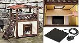 Cajou Katzenhaus Outdoor Isoliert und Wetterfest beheizbar mit Herausnehmbarer Wärmeplatte
