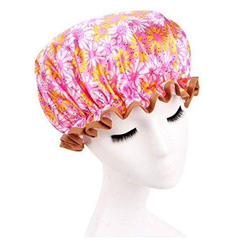 Réutilisable Bonnet de douche imperméable à l'eau Spa bonnet de bain, tournesols