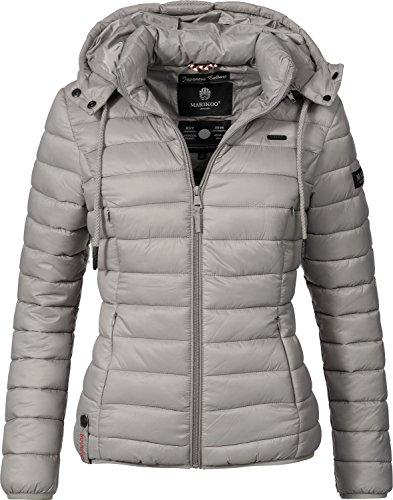 Marikoo Damen Jacke Übergangs-Jacke Steppjacke Ein Und Alles (vegan hergestellt) Grau Gr. L