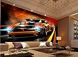 Papier peint 3D 2017 nouveau design 3d peinture murale papier peint style de style dynamique voiture de sport papier peint pour les murs 3 d salle tout mur fond-280X200CM
