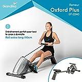 SKANDIKA Regatta Oxford Pro Plus - Rameur d'appartement - Rail de 110cm - Console - Frein magnétique - 10 Niveaux de résistance - Max. 120 kg