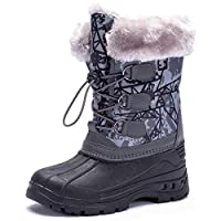 Kids Winter Snow Boots Boys Girls Boots Waterproof Outdoor Warm Faux Fur Lined Shoes