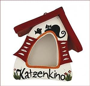 Original Die Vogelvilla, Vogelhaus Katzenkino weiss, Futterhaus, Futtermini