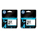 HP No. 364 Ink Cartridges - Black, Pack of 2