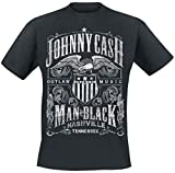 Johnny Cash Outlaw Music T-Shirt schwarz L